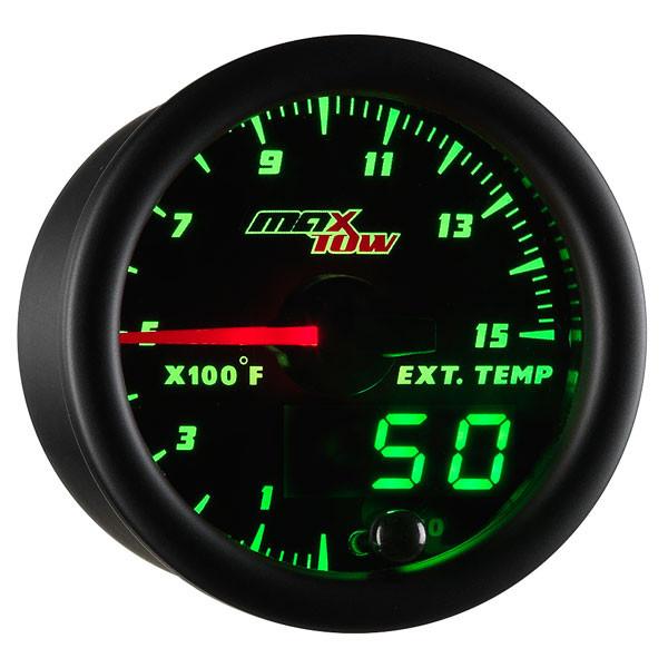 Black & Green MaxTow 1500° F Pyrometer EGT Gauge
