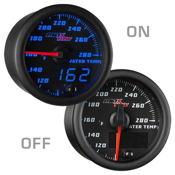 Black & Blue MaxTow 280 Degree Fahrenheit Water Temperature Gauge