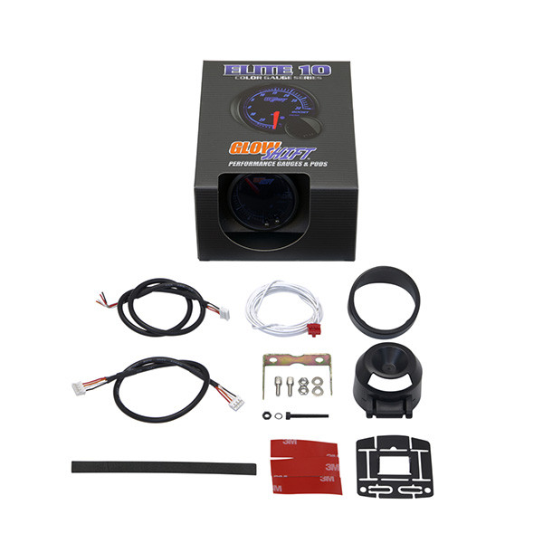 GlowShift Elite 10 Color Air/Fuel Ratio Gauge Unboxed
