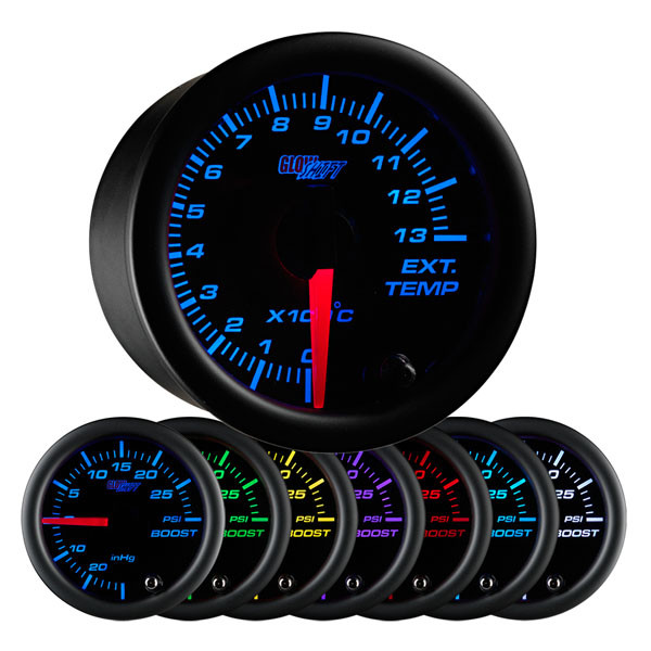 Black 7 Color 1300 Celsius Exhaust Gas Temperature Gauge