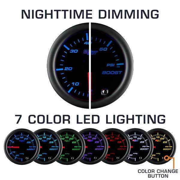 Nighttime Dimming & 7 Color LED Lighting