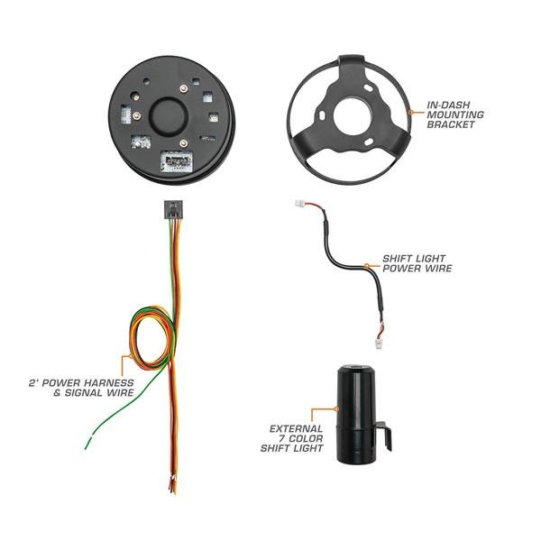 In-Dash Tachometer Parts & Wiring Schematic