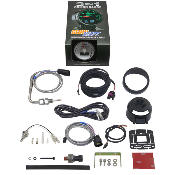 GlowShift 3in1 Dodge Ram Style EGT w/ Digital Boost & Temp Gauge Unboxed