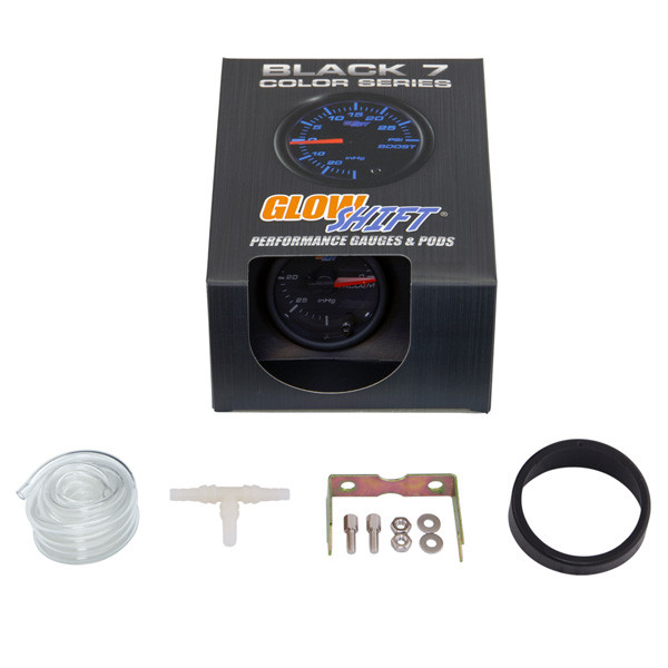 GlowShift Black 7 Color Vacuum Gauge Unboxed