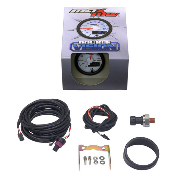 White & Blue MaxTow Oil Pressure Gauge Unboxed