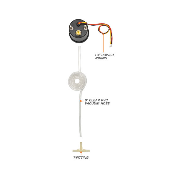 7 Color Series Vacuum Gauge Parts & Wiring Schematic