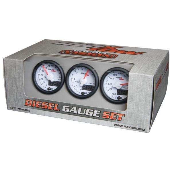 White & Green MaxTow 3 Gauge Diesel Set