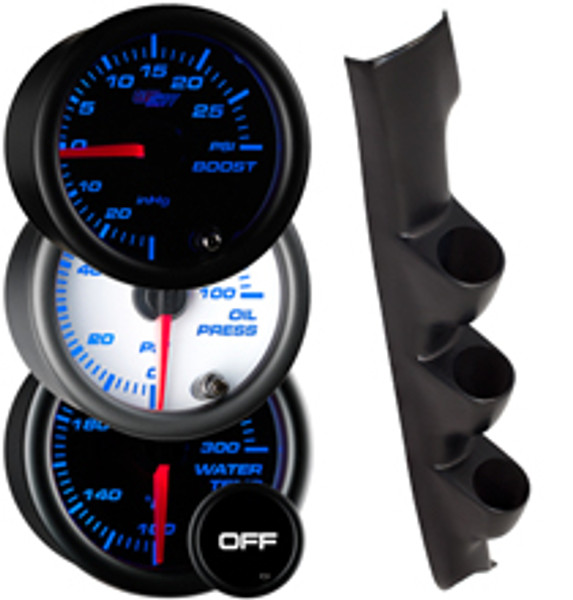 2003-2008 Hyundai Tiburon Custom 7 Color Gauge Package Gallery
