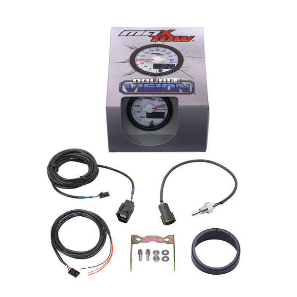 White & Blue MaxTow Transmission Temperature Gauge Unboxed