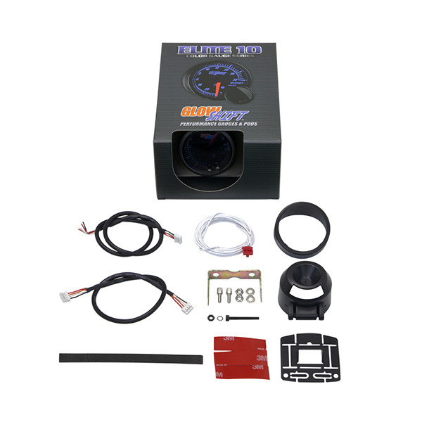 GlowShift Elite 10 Color Tachometer Gauge Unboxed