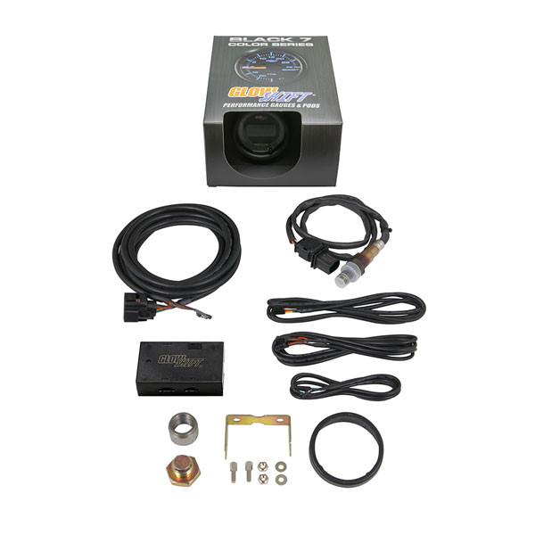 GlowShift Black 7 Color Series Digital Wideband Air/Fuel Gauge Unboxed