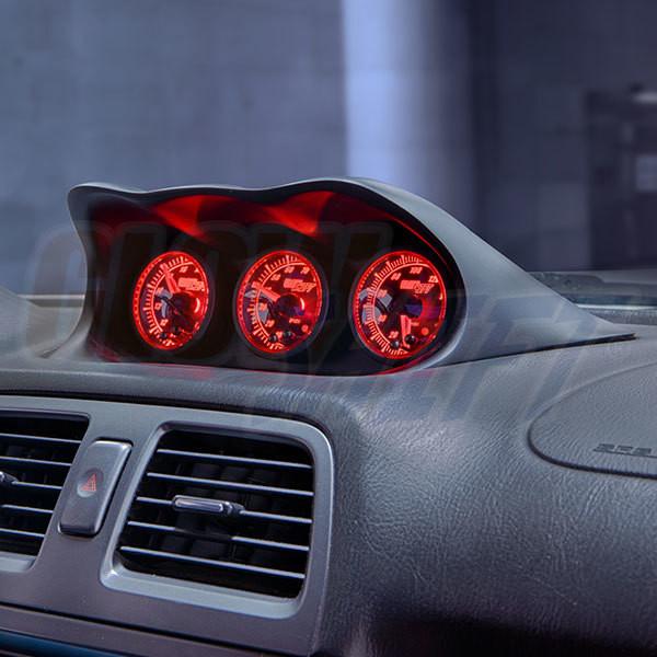 GlowShift 60mm Impreza WRX and STI Fiberglass Dash POD Installed
