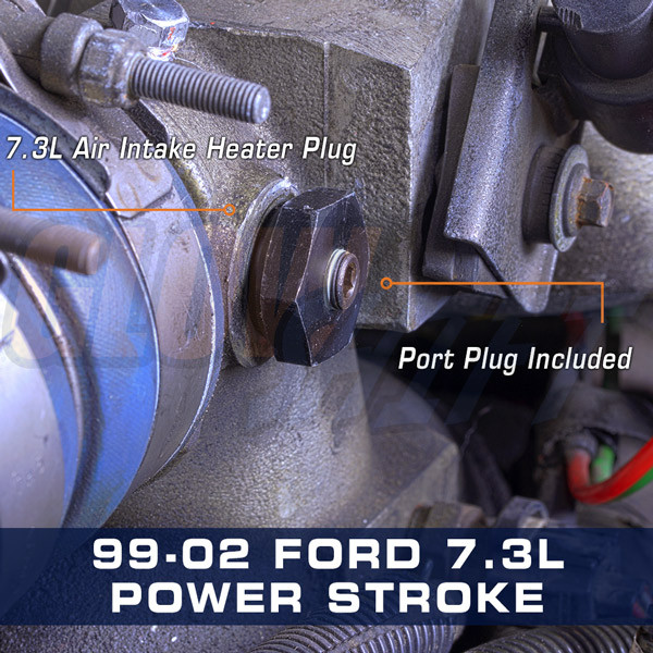 1999-2002 7.3L Power Stroke Air Intake Heater Boost Plug Installed