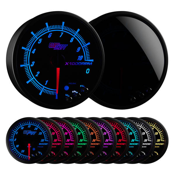 "Elite 10 Color 3 3/4"" In Dash Tachometer w/ Shift Light"