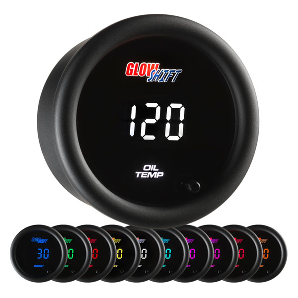 10 Color Digital Oil Temperature Gauge