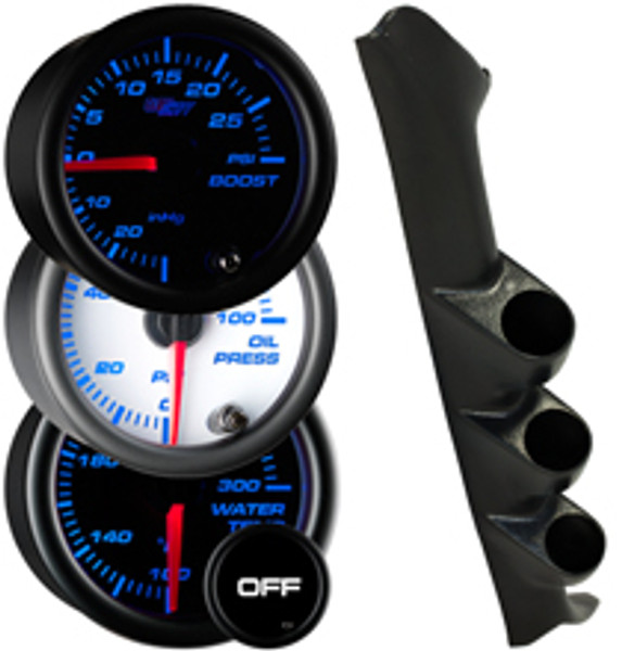 1997-2001 Ford F-150 Custom 7 Color Gauge Package Gallery