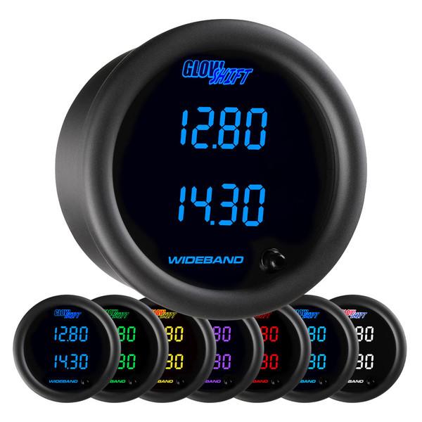 Black 7 Series Dual Digital Wideband Air/Fuel Ratio Gauge