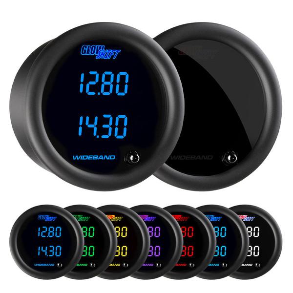 Tinted 7 Color Dual Digital Wideband Air/Fuel Ratio Gauge
