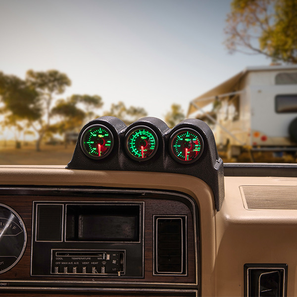 1986-1993 Dodge Ram Cummins Triple Dashboard Pod Installed