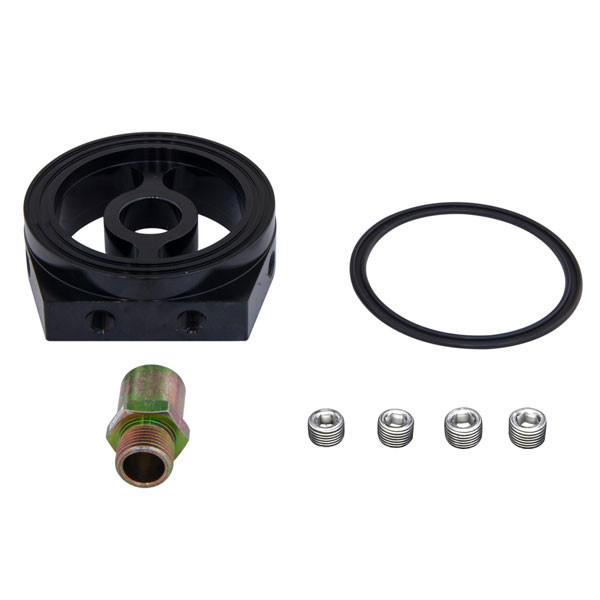 Components Included with Chevy Small-Block 305 & 350 Oil Filter Sandwich Adapter
