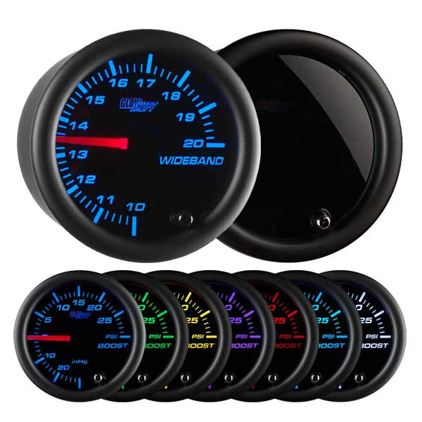 Tinted 7 Color Analog Wideband Air/Fuel Ratio Gauge