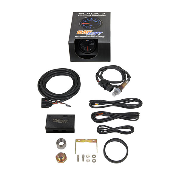 Black 7 Color Analog Wideband Air/Fuel Ratio Gauge Unboxed