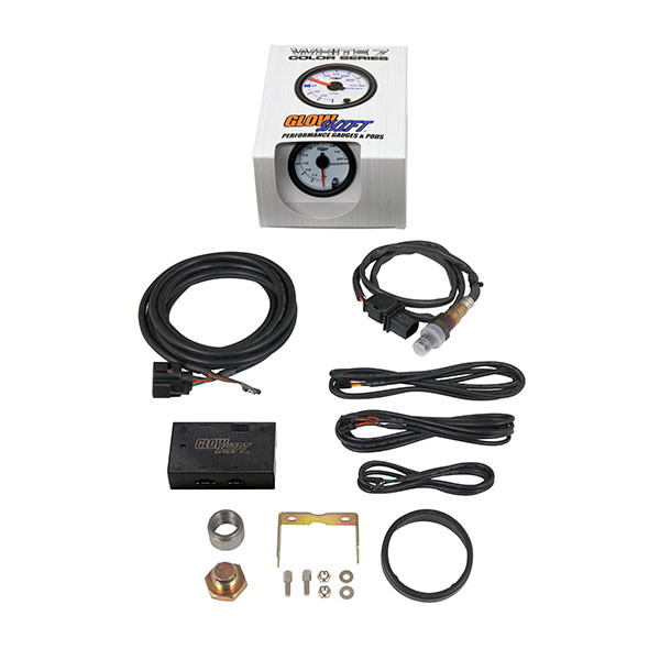 White 7 Color Analog  Wideband Air/Fuel Ratio Gauge Unboxed