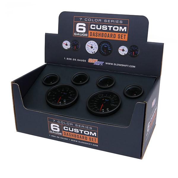 Tinted 7 Color Custom Dashboard Gauge Set Packaging