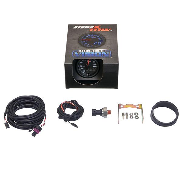 Black & Blue MaxTow 100 PSI Diesel Boost Gauge Unboxed