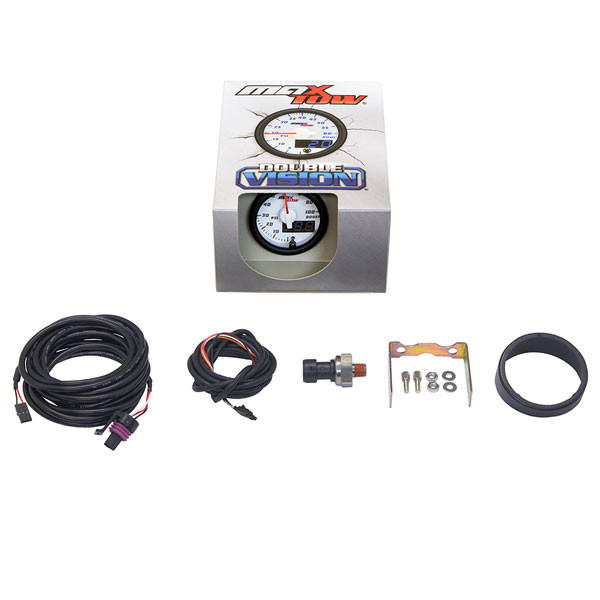White & Blue MaxTow 100 PSI Boost Gauge Unboxed