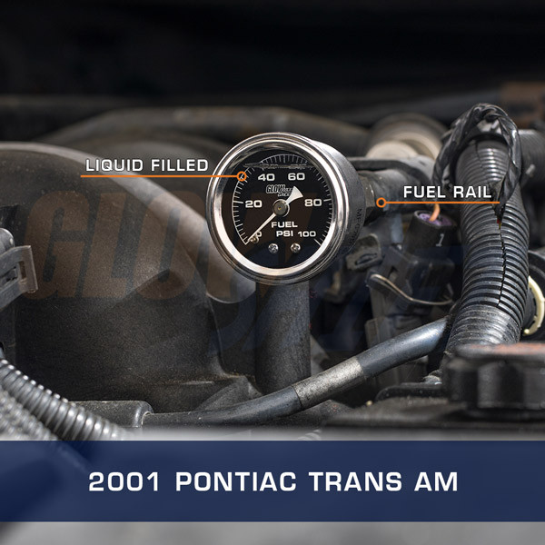 Mechanical Fuel Pressure Gauge Installed to 2001 Pontiac Trans Am