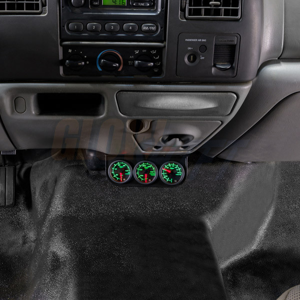 Universal Triple Gauge Under Dashboard Mounting Bracket Pod Installed