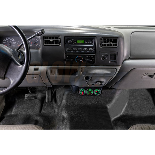 Universal Triple Gauge Under Dashboard Mounting Bracket Installed