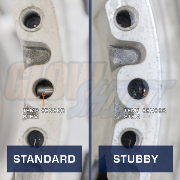 Standard Temp Sensor vs. Stubby Temp Sensor