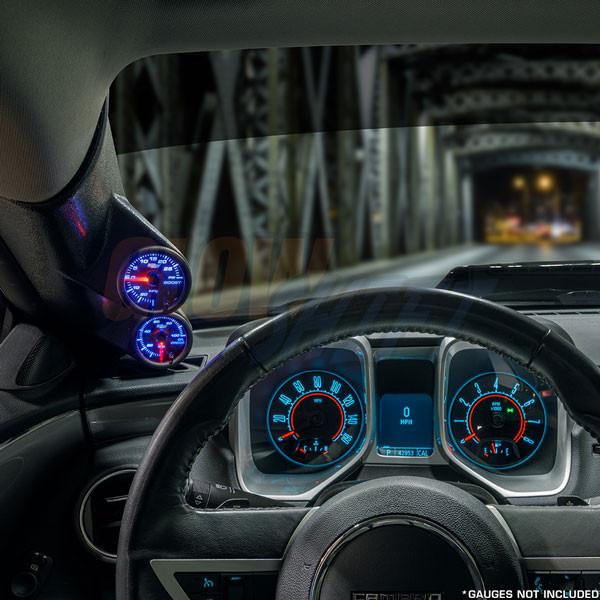 2010-2015 Chevrolet Camaro Full Size Dual Pillar Pod Front Installed