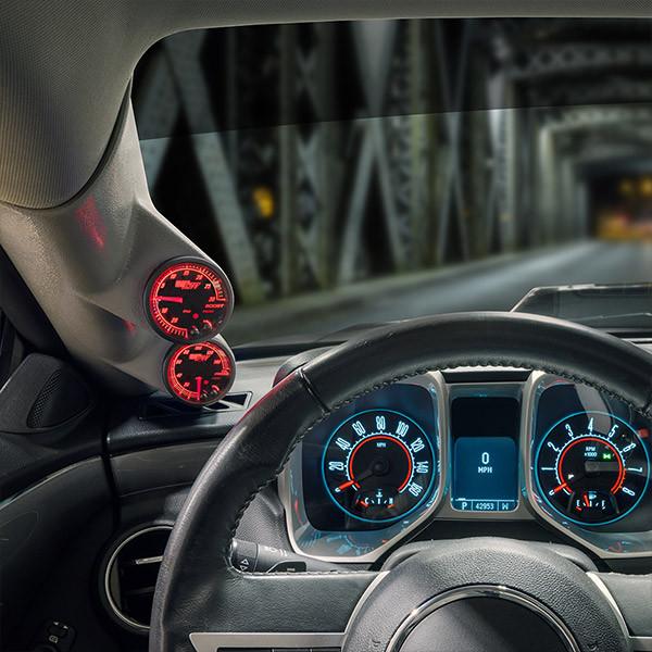 Elite 10 Color Series Dual Gauge Package for 2010-2015 Chevrolet Camaro Installed