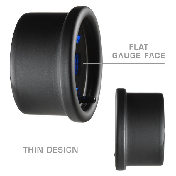 Flat Gauge Face & Thin Design