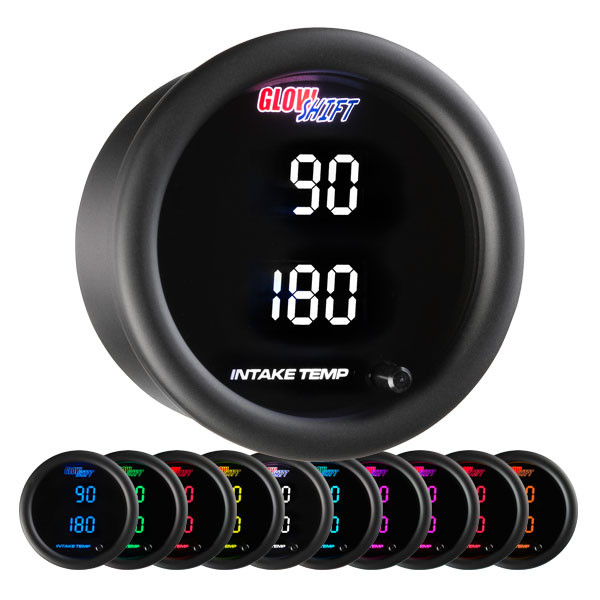 10 Color Digital Dual Intake Temperature Gauge