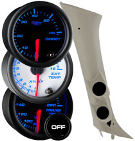 07-13 Chevy Silverado Duramax Full Size Dual Custom 7 Color Gauge Package Thumb