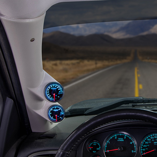Elite 10 Color Series Dual Gauge Package for 2007-2013 Chevrolet Silverado Duramax Installed