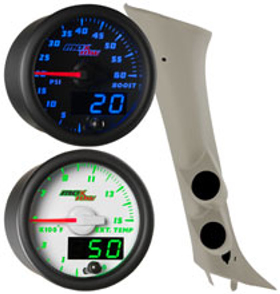 07-13 Chevy Silverado Duramax Full Size Dual Custom MaxTow Gauge Package Thumb