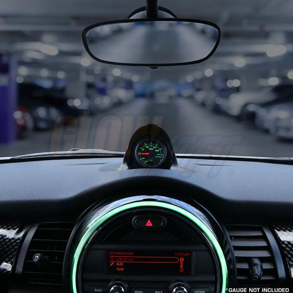 2015-2018 MINI Cooper Fiberglass Single Gauge Dashboard Pod Installed