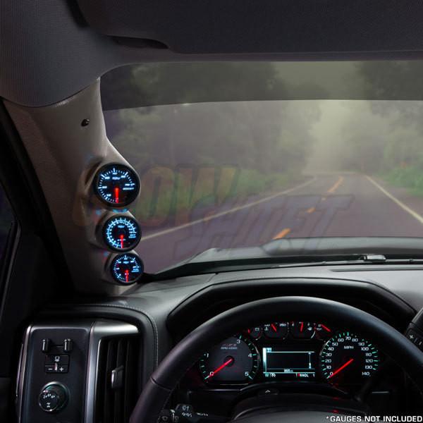 2014-2019 GMC Sierra Duramax Tan Triple Pillar Pod Straight View