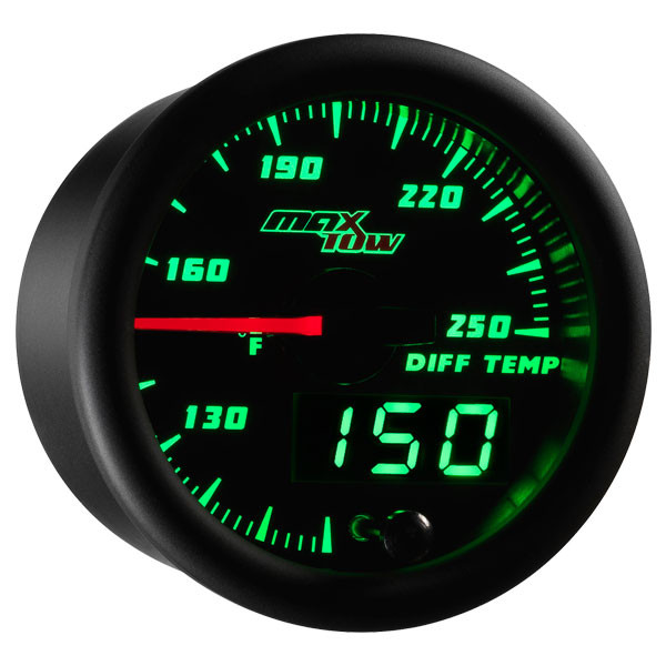 Black & Green MaxTow Differential Temperature Gauge