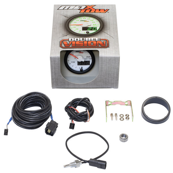 White & Green MaxTow Differential Temperature Gauge Unboxed