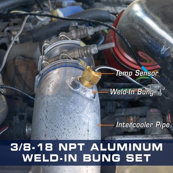 3/8-18 NPT Aluminum Weld-In Bung Set Install Gallery