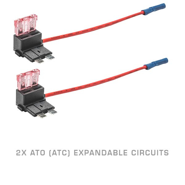 2 Pack - ATO (ATC) Expandable Circuit & 4 Amp Fuse