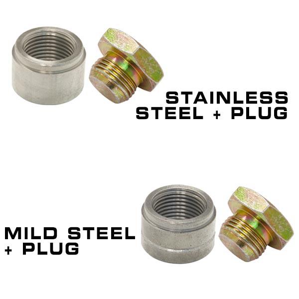 Wideband Air/Fuel Ratio Oxygen Sensor Weld-In Bung & Plug Set
