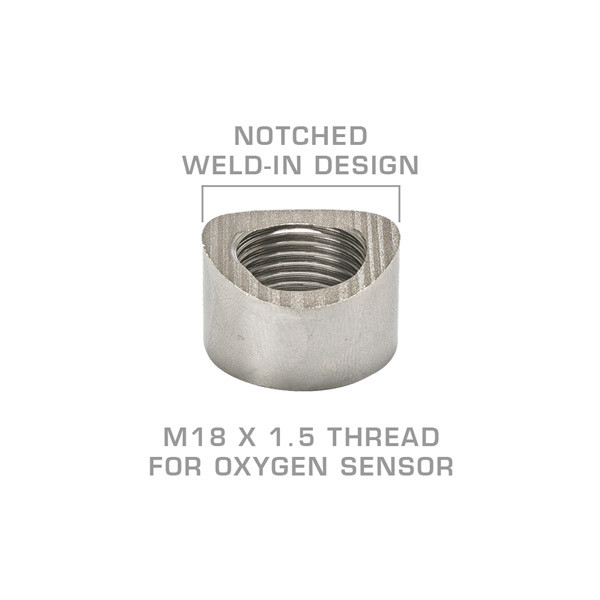 Wideband Air/Fuel Ratio Oxygen Sensor Notched Weld-In Bung