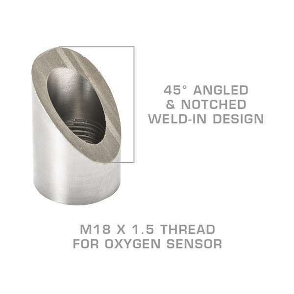 Wideband Air/Fuel Ratio Oxygen Sensor 45 Degree Offset Weld-In Bung